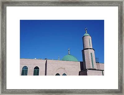 Framed Print featuring the photograph A Mosque by Artistic Panda