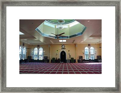 Framed Print featuring the photograph A Mosque Interior by Artistic Panda