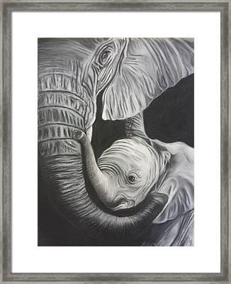 A Mother's Embrace Framed Print