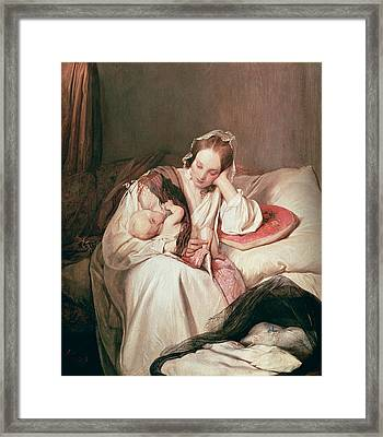 A Mothers Love, 1839 Framed Print