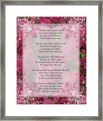 A Mother's Love  8x10 Format Framed Print