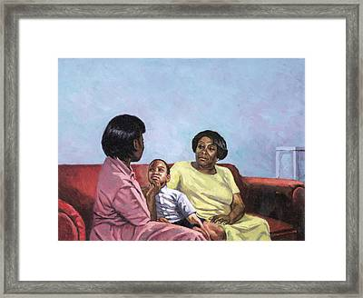 A Mothers Strength Framed Print by Colin Bootman