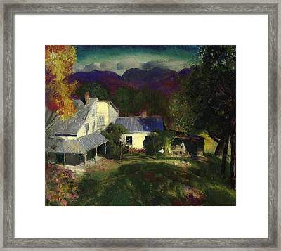 A Mountain Farm Framed Print by George Wesley Bellows