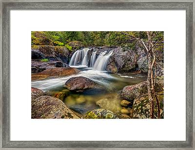 A Mountain Flow Framed Print