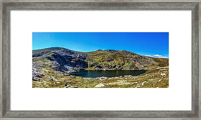 A Mountain Lake Framed Print by Mark Lucey