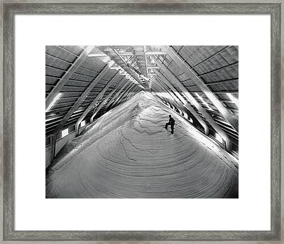 A Mountain Of Raw Sugar Framed Print by Underwood Archives