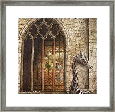 A Much Higher Authority... Framed Print by Will Bullas