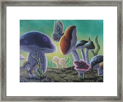 A Mushroom Kingdom Framed Print