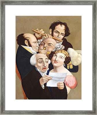 A Musical Group, C.1830 Framed Print by French School