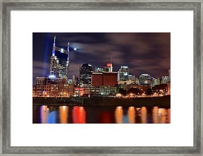 A Nashville Night Framed Print by Starving  Artist