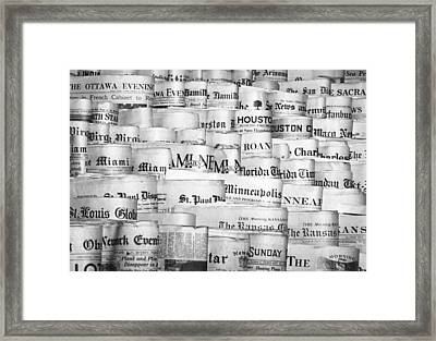 A National Newspaper Stand Framed Print by Underwood Archives