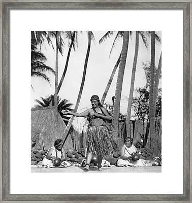 A Native Hawaiian Dancer Framed Print