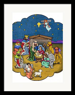 Birth Of Jesus Framed Prints