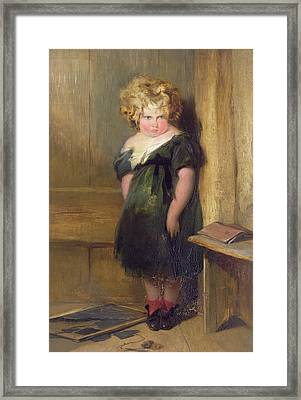 A Naughty Child Framed Print by Sir Edwin Landseer