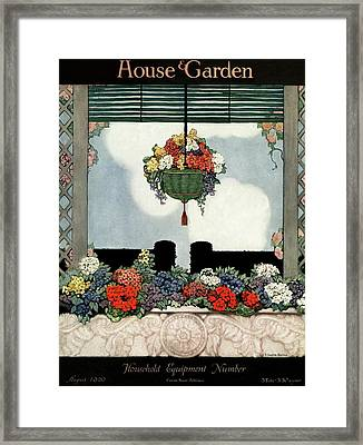 A Neo-classical Marble Window Sill Framed Print