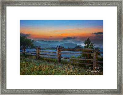 A New Beginning - Blue Ridge Parkway Sunrise I Framed Print by Dan Carmichael