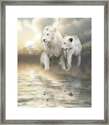 A New Beginning Framed Print by Carol Cavalaris