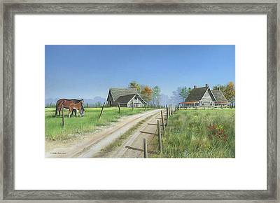 Framed Print featuring the painting A New Beginning by Mike Brown
