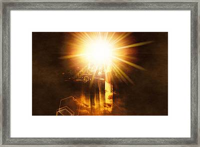 Framed Print featuring the digital art A New Dawn  by Fine Art By Andrew David