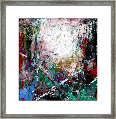 A New Day - Abstract Art By Laura Gomez - Square Format Framed Print by Laura  Gomez