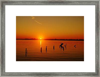 A New Day Dawns... Over Dock Remains Framed Print