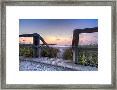 A New Day Framed Print by Debra and Dave Vanderlaan