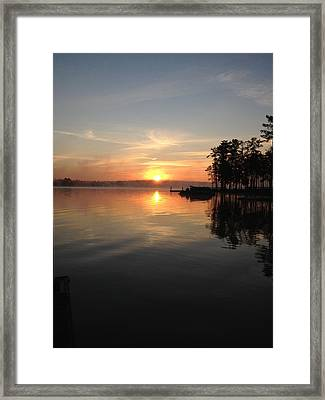 A New Day Framed Print by M West