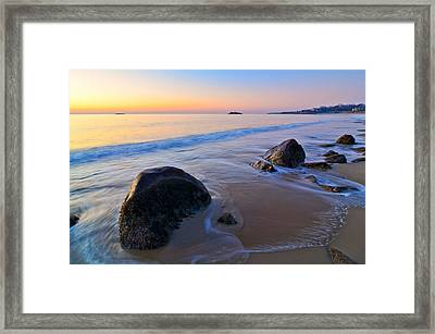 A New Day Singing Beach Framed Print by Michael Hubley