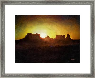 A New Day - Monument Valley Framed Print