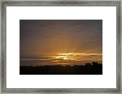 A New Day - Sunrise In Texas Framed Print