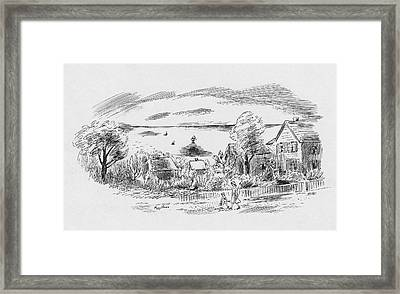 A New England House Framed Print by Peggy Bacon