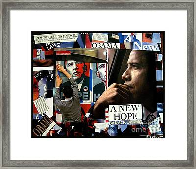 Barack Obama A New Hope Framed Print by Isis Kenney