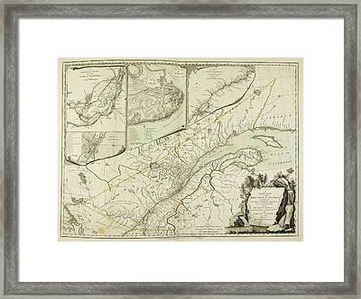 A New Map Of The Province Of Quebec Framed Print