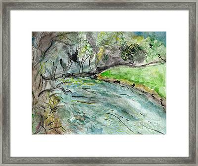 Spring River Morning Framed Print by Elizabeth Briggs