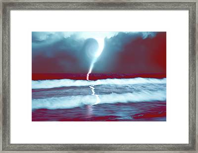 Phenomenon Above The Sea Continues Framed Print by Kellice Swaggerty