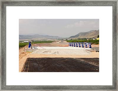 A New Road Being Constructed Framed Print by Ashley Cooper