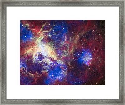 A New View Of The Tarantula Nebula Framed Print by Space Art Pictures