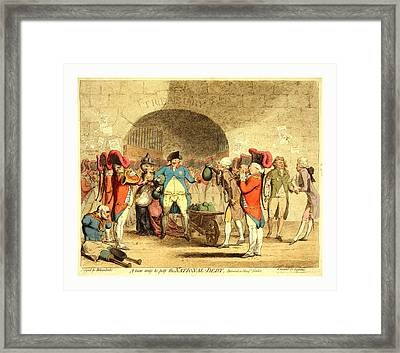 A New Way To Pay The National-debt, Cartoon Shows King Framed Print