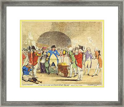 A New Way To Pay The National Debt Framed Print by Charlie Ross