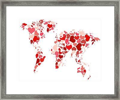 A New World Map Framed Print