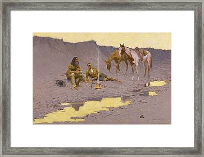 A New Year On The Cimarron Framed Print by Fredrick Remington