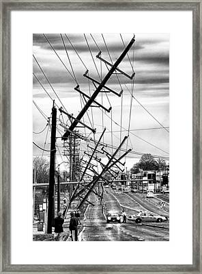 A New Years Eve On Route 66 Framed Print by Robert  FERD Frank