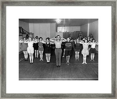 A New York Exercise Class Framed Print