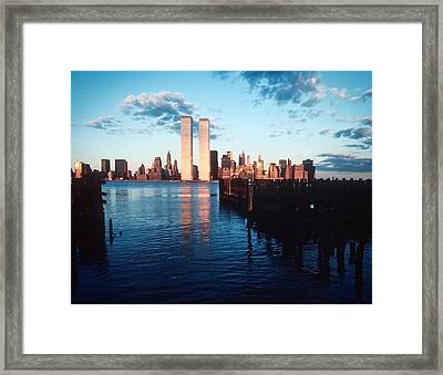 New York Sunset 1978 Framed Print by Kellice Swaggerty