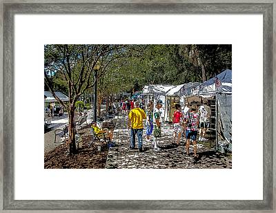 A Nice Day In The Park Art Show Framed Print by Rich Franco