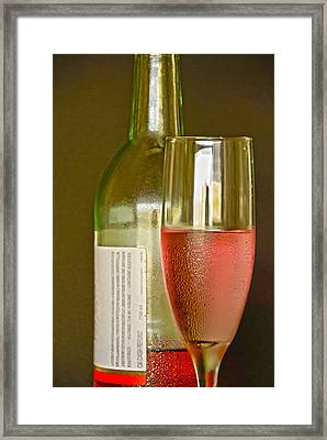 A Nice Glass Of Wine Framed Print by Charles Beeler