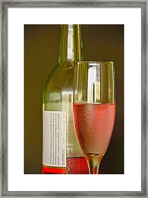 A Nice Glass Of Wine Framed Print