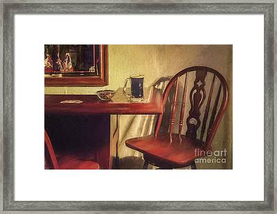 A Nice Mug O' Stout At The Pub Framed Print by Diane Diederich