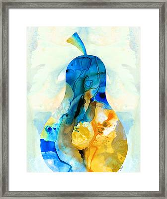 A Nice Pear - Abstract Art By Sharon Cummings Framed Print