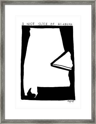 A Nice Slice Of Alabama Framed Print by Roz Zanengo